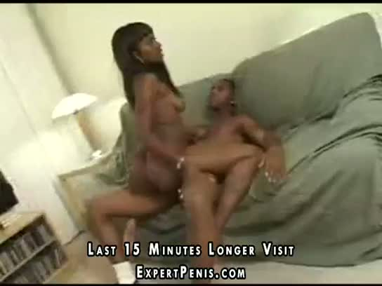 Black girl is all over his hard dick meat