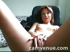 Redhead naked sexy show on voyeur cam