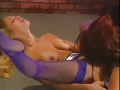Redhead and blonde anal play