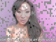 Hot asian asa akira masturbating in lingerie