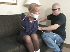 Hot woman gagged