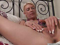 Sexy british blonde cyprus isles fingers her pussy in a school unform