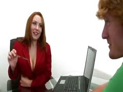Redhead rebecca has awesome tits
