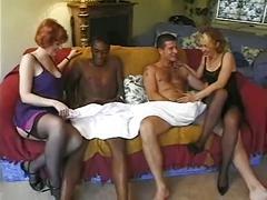 British sluts sahra and jessica in a foursome