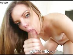Tiny4k - petite cute trisha parks likes to play with big cocks