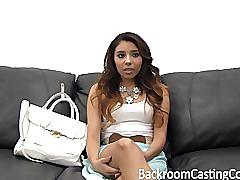 College cutie first anal & ambush creampie casting