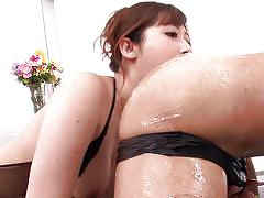 Japanese milf with big tits plays dirty
