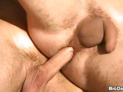 Bareback sex by the train tracks with lustful muscled hunks