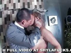 Shyla's anal pounding in the bathroom
