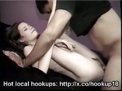 Skinny girl with tiny tits fucked