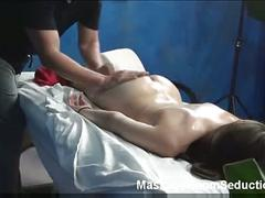 Cute tiffany seduced in massage room