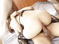 Wet asian girl gets hard ass fucked