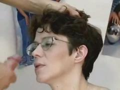 facial, brunette, shaved, glasses, pregnant, shaven, preggo, hard-core, iknowthatgirl