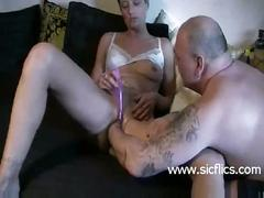 Brutally fist fucked amateur housewife has her cunt stretched by her husband