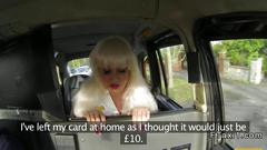 Taking a stiff uk cock to pay the fare