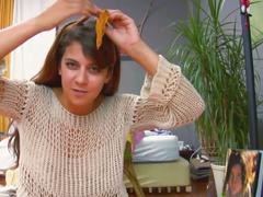 Brunette olivia hairy pussy
