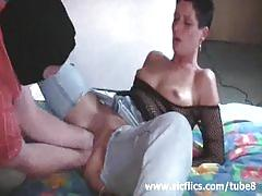 Brutal double vaginal fist fucked amateur wife