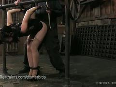 Elise graves can't get enough of hard bondage