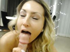 Nice ass blonde girlfriend fucked hard