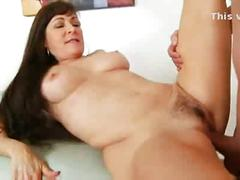Long haired cougar hairy pussy fucked doggystyle