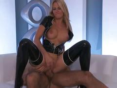 Sensual blonde jessica drake gets banged hard
