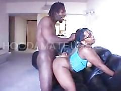 big dick, ebony, hardcore, black, bbc, big-black-cock, black-dick, big-cock, glasses, blowjob, cock-sucking, face-fuck, doggy-style, standing-fuck, brunette, facial