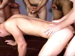 Black and white horny twinks spank a little dudes ass