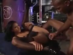 Black man with huge cock fucks lily thai