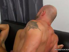 Raw anal injection in office with casey williams and parker wright