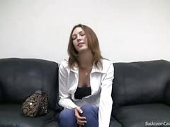 amateur, blowjob fuc, casting, couch, redhead