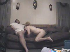 Nicole awaits a big dick to fuck her on the sofa