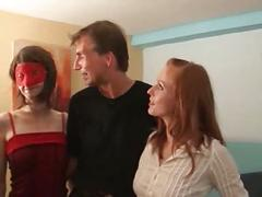 German gangbang with 2 girls
