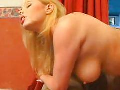- blond babe rides a dick with her ass