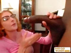 Hot redhead pussy mature wife screwed on the sofa