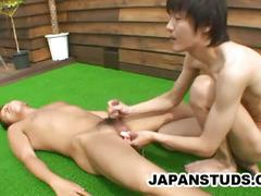 Two japanese studs in hardcore action.