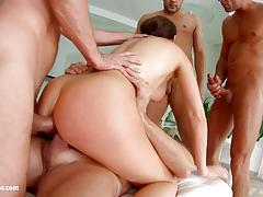 Tina kay dped in foursome
