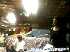 Black couple in basement
