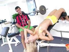 Sabrina blond gym.