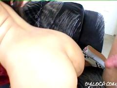Petite latin asian annie cruz fucked hard by two guys