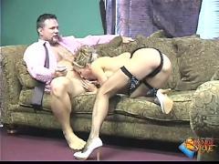 stockings, hardcore, blonde, milf, blowjob, pussyfucking, maid