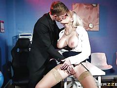 Big breasted work professionals getting drilled all day long