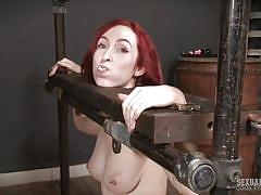 bdsm, babe, redhead, big cock, panties, domination, busty, face fuck, device bondage, real time bondage, penny lay, jesse dean