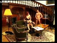 anal, stockings, milf, blowjob, redhead, threesome, stocking