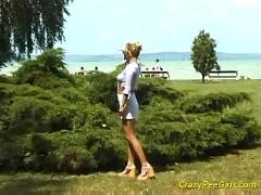 pussy, blonde, outdoor, amateur, fetish, public, pissing, pee, piss, watersports