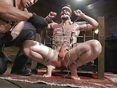 tattooed, bondage, blindfolded, bdsm, blowjob, clothespins, slapping, torture, big cocks, muscle hunks, gagged, bondage suspension, bound gods, kink men, trenton ducati, teddy bryce
