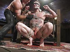 Hot muscular sex slave endures sweet torment