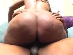Phat ass black creampie