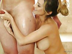 Slippery sensual massage with a hispanic cutie