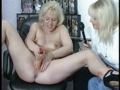 Blonde mature lesbo slut