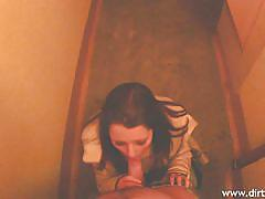 babe, blowjob, brunette, pov, on knees, spy glasses, fucking glasses, dasha xx